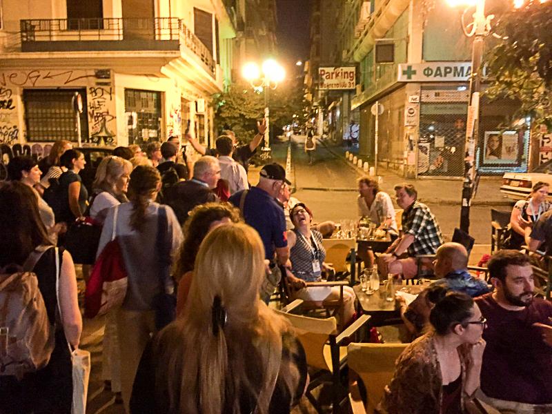 Abendprogramm in Exarcheia, dem alternativ-anarchistischen Viertel Athens