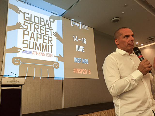 Yanis Varoufakis bei seiner Ansprache